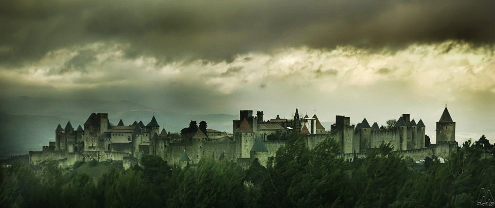 Storm in Carcassonne